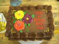Flower birthday cake.  #flower #custom #birthday #cake #spring