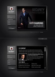 Security Service website template