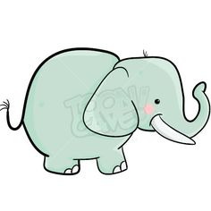 SIMPLE ELEPHANT CLIPART - Fittex bil-Google