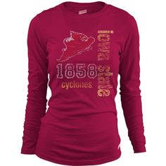 Soffe Iowa State Cyclones Women's Long Sleeve T-Shirt Large $22.00