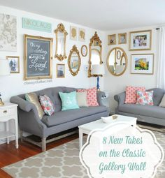 Try out something new with these 8 inspiring gallery wall ideas!