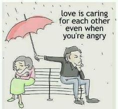 Love is caring for each other even when you're angry. #Keeper #funny #love #couples by pkorina