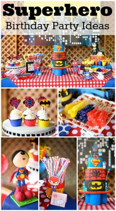 Awesome superhero birthday party ideas! See more party ideas at CatchMyParty.com. #superhero #boybirthday