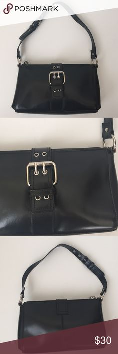 "Wilson Leather Small Shoulder Bag Small black Shoulder bag from Wilson Leather. Zipper closure with magnetic over strap. 9""-11"" adjustable drop strap. Bag measures 10""x6.5"". Wilsons Leather Bags Shoulder Bags"