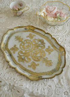 Beautiful Vintage Florentine Tray