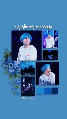 Credits to the owner Hoseok Bts, Jimin Jungkook, Seokjin, Blue Aesthetic, Aesthetic Themes, K Pop, All Bts Members, Kim Taehyung, Bts Lockscreen