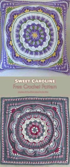 Sweet Caroline Afghan Block Free Crochet Pattern #freecrochetpatterns #crochetblanket