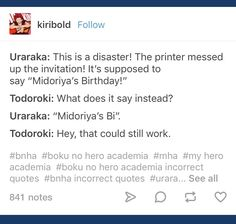 This is kinda Tododeku lol Boko No Hero Academia, My Hero Academia Memes, Hero Academia Characters, My Hero Academia Manga, Haha Funny, Funny Memes, I Cant Even, Text Posts, I Love Him