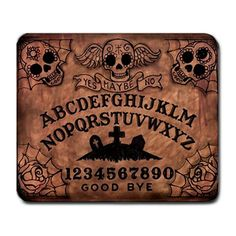 Day of the Dead Ouija Board Mousepad by StuffoftheDead on Etsy, $13.13