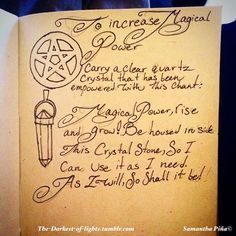 Knowledge Is Power — The latest pages in my book of shadows, all had...