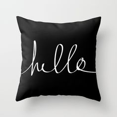 Buy Hello by Leah Flores as a high quality Throw Pillow. Worldwide shipping available at Society6.com. Just one of millions of products available.