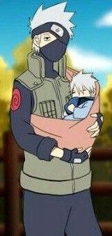 Kakashi and his son <3