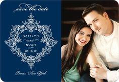 Wedding Paper Divas Magnet Save the Date - Opulent Crest - $230 for 125