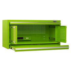 Viper Tool Storage 41 Inch 2 Drawer 18G Steel Top Hutch, Lime
