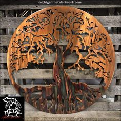 "Tree Of Life Metal Wall Art Figure out more information on ""metal tree art"". Look at our site. Metal Tree Wall Art, Metal Artwork, Outdoor Metal Wall Art, Outdoor Art, Wall Art Crafts, Wall Art Decor, Art Carte, Tree Artwork, Art Mural"