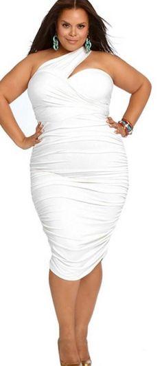 Most Wanted White Plus Size Club Dresses Plussize Plussizedresses
