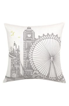 find an easy line drawing, transfer to cheap pillow, outline w/ fabric paint