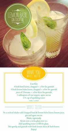 Lemon Drink with gin...sounds like the perfect drink for a hot summer day!