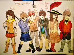 Heyo! It's Picture for my guys! It's we as pirates!! Guys who have glasses in real have eye patch on drawing. I design this costumes. Hope you like It! :)