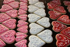 Valentine Cookies, piped