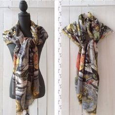 London map scarf spring is here pinterest scarves boutique world map scarf gumiabroncs Choice Image