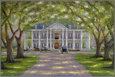 colonial house - so pretty.is that Tara? Southern Mansions, Southern Plantations, Southern Homes, Southern Charm, Country Homes, Southern Living, Country Living, Plantation Homes, Southern Plantation Style