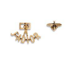 """j'adior"" earrings in gold-tone finish aged metal - Dior"
