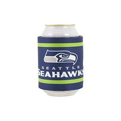 NCAA Slap-It Can Cooler - Seattle Seahawks  http://allstarsportsfan.com/product/ncaa-slap-it-can-cooler/?attribute_pa_teamname=seattle-seahawks  Measures 9.10-inches by 3.45-inches Neoprene Slap-It keeps your drink cool Can even be worn on your wrist