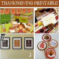 12 Free Printable Thanksgiving Crafts