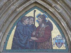 Viktor Foerster - Emauzy - Kristus provázen dvěma benediktinskými mnichy