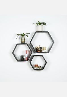 Hexagon Shelf Set of 3
