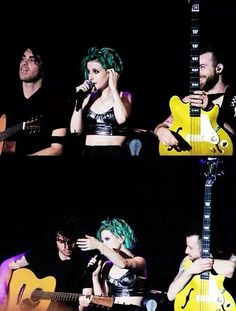 Paramore on stage