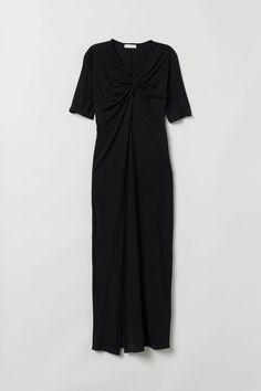 Klänning med knäppning LjusblåFjärilar DAM   H&M SE