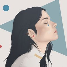 Yuschav Arly's digital portraits of mysterious women that look like delicate paintings Collage Portrait, Digital Portrait, Portraits, Profile Drawing, Profile Picture For Girls, Pictures To Draw, Aesthetic Art, Digital Illustration, Art Girl
