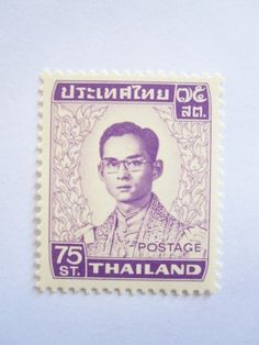 Beautiful Thai Stamps Collecting King Rama 9 Bhumibol First Reign 75 Satang Unused Thailand by SUWANNABHUMI. $109.00. Unused. Very Rare. Thai Stamp King Rama 9 Bhumibol. 25 Satang (0.75 THB). First reign. King Rama 9 (Bhumibol)Thailand Stamp First reign,  Very rare, No more production. For you, Stamp collector.