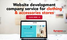 Transform retail business of clothing & accessories stores into ECOMMERCE WEBSITE to increase product sales.   Hire a reliable WEBSITE DEVELOPMENT COMPANY SynapseIndia to create a unique online identity. Accessories Store, Clothing Accessories, Website Development Company, Clothing Company, Ecommerce, Identity, Retail, Create, Business