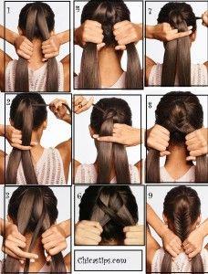 peinado con cabello totalmente recojido