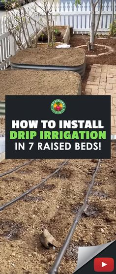 Raised Garden Beds Irrigation, Garden Irrigation System, Drip Irrigation System Design, Irrigation Systems, Drip System, Garden Watering System, Watering Plants, Pallets Garden, Water Garden