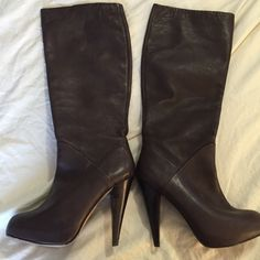 """Dolce Vita Brown tall boots 4.5"""" inch heels, 19"""" height, width 7"""" - nice brown color, in good condition Dolce Vita Shoes Heeled Boots"""
