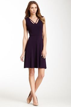 Donna Morgan holiday dress // Professional with a jacket, and it's easy to turn into a holiday dress with some earrings.