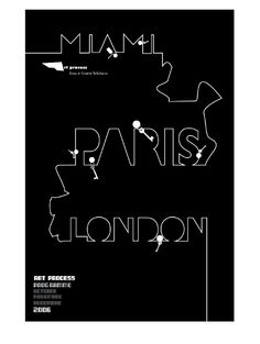 Simple but eye catching poster design. Design Miami, Flyer Printing, London, Paris, Eye, Simple, Movie Posters, Leaflet Printing, Montmartre Paris