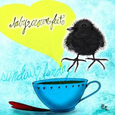 What My Coffee Says, August 2, 2015 - Jennifer Cook (Print)