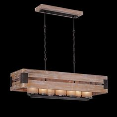 Eurofase Cesto Collection, 7-Light Rectangular Chandelier
