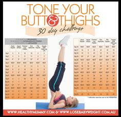 Lose Baby Weight's Tone Your Butt & Thighs Challenge