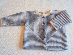 Trøjen her er også en af dem som ikke havde fået knapper i. Det er en model fra Drops, den er strikket i et stykke, jeg syntes det er en fi...