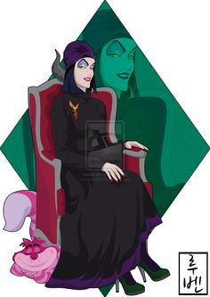Maleficent is one of the directors of the university. One of the founders of the school and member of faculty council.  She is mysterious, vengeful, arrogant, ill-tempered, manipulative and elegant.   Loves the gothic, horror novels and fairy tales with sad ending.  HATES not receive invitations, spring and people distrust her only by appearance.