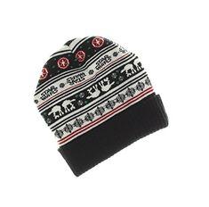 5db41291311 Disney Star Wars Fair Isle Ribbed Cuff Knit Beanie Hat Junior One Size  Black