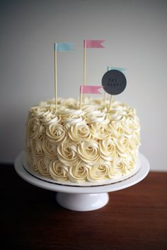 rosette buttercream piped cake by coco cake land