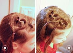 I Did This Hairstyle On Audrey For Valentines Day Turned Out - Hairstyle for valentine's dance