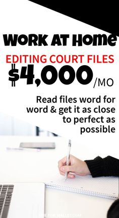 Make money from home editing court transcripts from home. Work as a scopist and make money online. Learn from this expert scopist with over 35 years experience. Scoping jobs from home. Make money online jobs Money Fast, Earn Money From Home, Earn Money Online, Way To Make Money, Work From Home Opportunities, Work From Home Jobs, Online Work From Home, Real Online, Tips Online